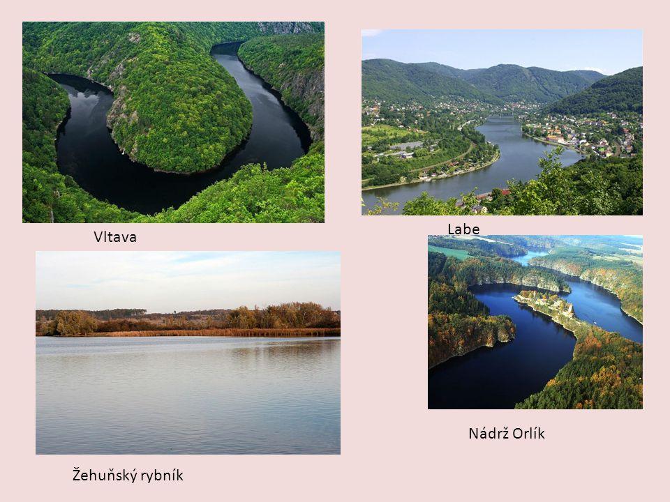 Vltava Labe Žehuňský rybník Nádrž Orlík