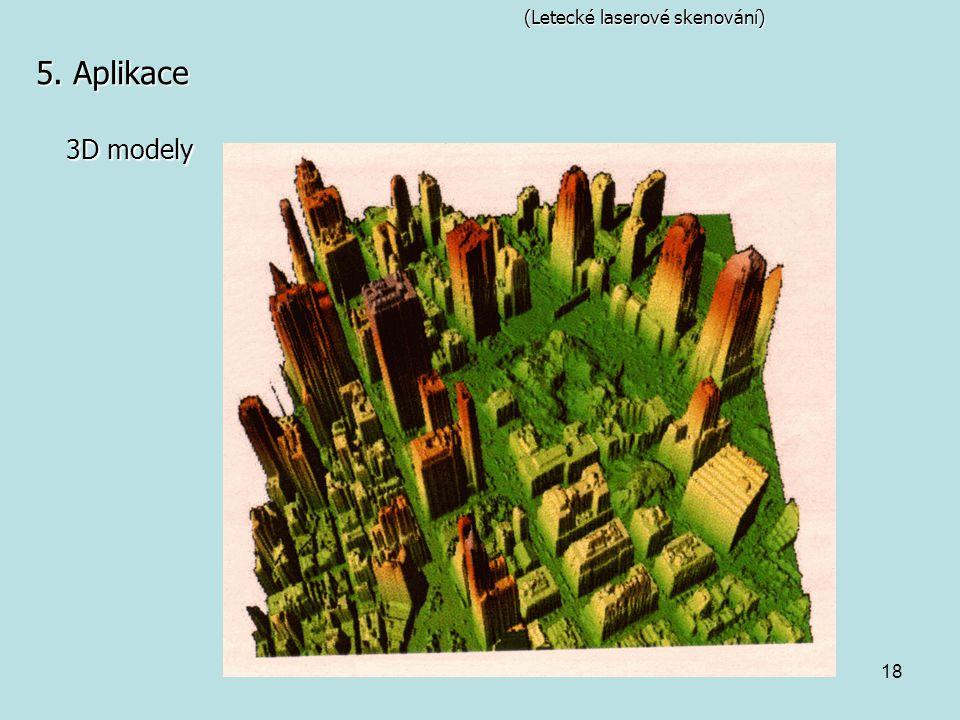 18 (Letecké laserové skenování) 5. Aplikace 3D modely