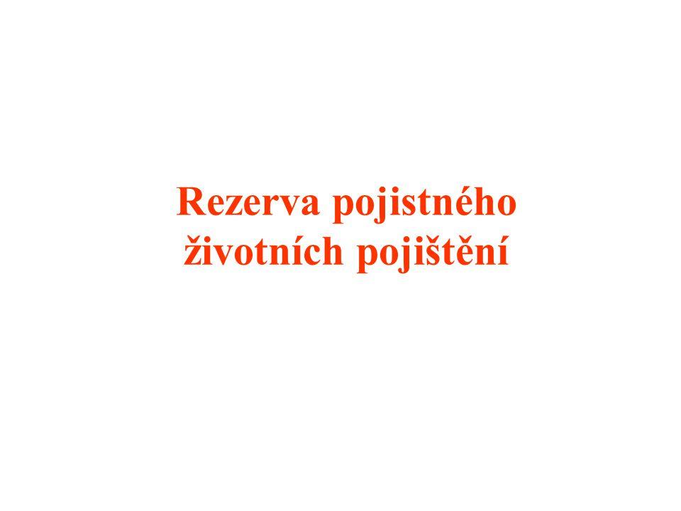 Rezerva pojistného životních pojištění