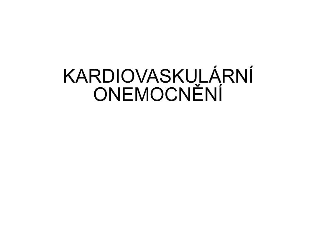 Úmrtnost v ČR na KVO každý druhý zemřelý v ČR měl na úmtním listě uvedenou jako příčinu smrti některou z nemocí oběhové soustavy a každý šestý až sedmý zemřelý cevní mozkovou nemoc