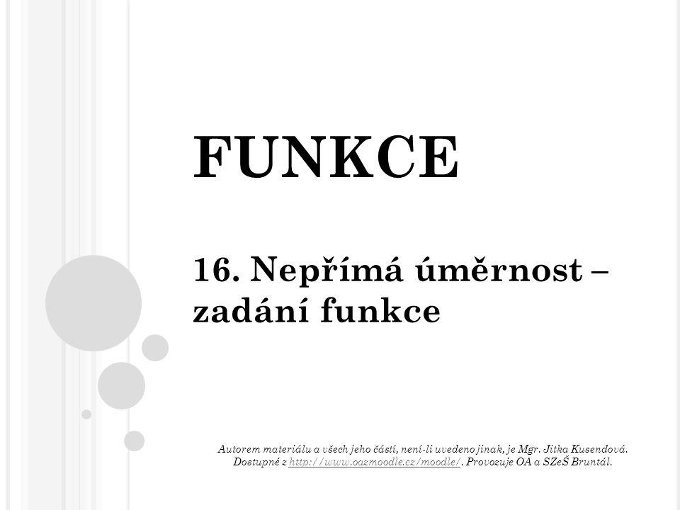 FUNKCE 16.