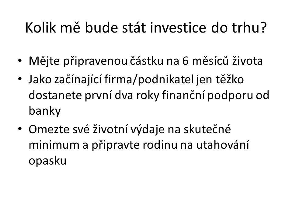 Kolik mě bude stát investice do trhu? Mějte připravenou částku na 6 měsíců života Jako začínající firma/podnikatel jen těžko dostanete první dva roky