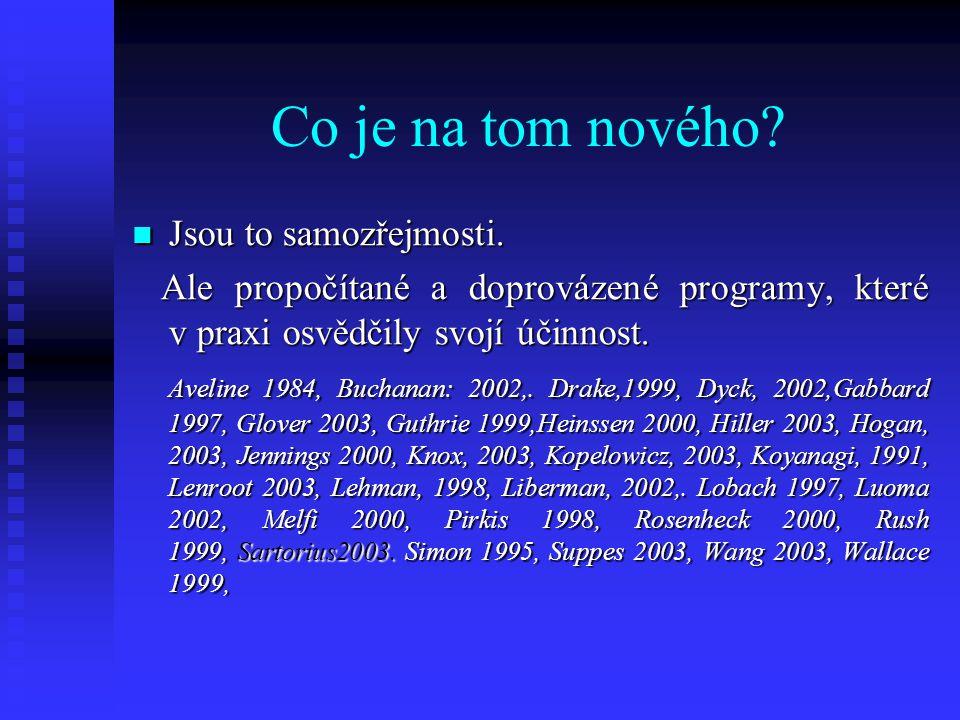 Kdo si v ČR klade tyto samozřejmé otázky.Jak je to s doručováním potřebné péče.
