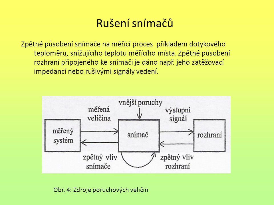 Odrušení snímačů Odrušení je soubor opatření k zamezení vzniku nebo šíření rušení a současně ke zvýšení odolnosti elektronického zařízení proti vlivům rušivých signálů.