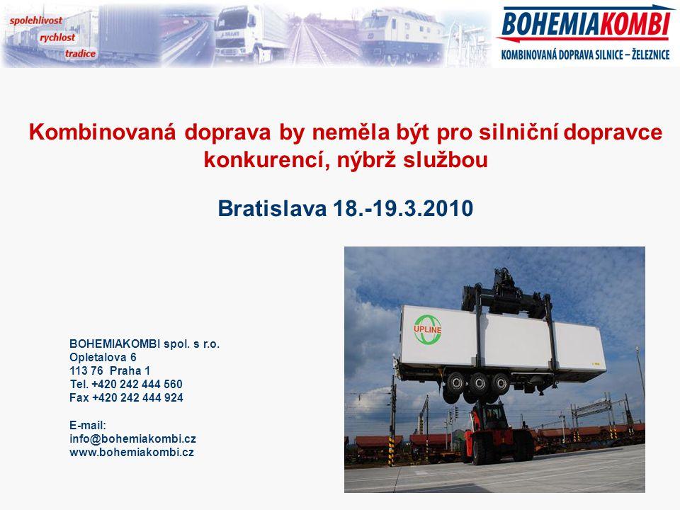 BOHEMIAKOMBI spol. s r.o. Opletalova 6 113 76 Praha 1 Tel.