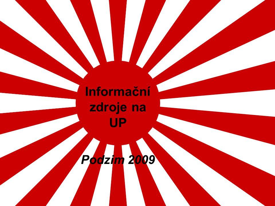Informační zdroje na UP Podzim 2009