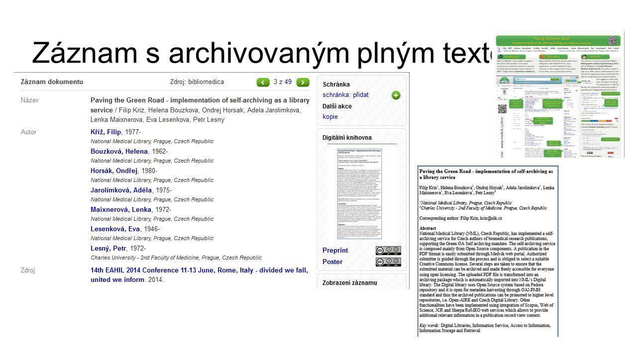 Záznam s archivovaným plným textem