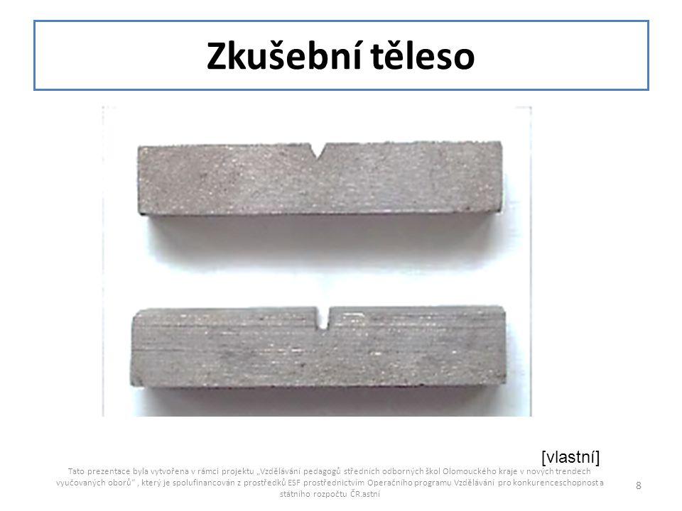 """Zkušební těleso Tato prezentace byla vytvořena v rámci projektu """"Vzdělávání pedagogů středních odborných škol Olomouckého kraje v nových trendech vyuč"""