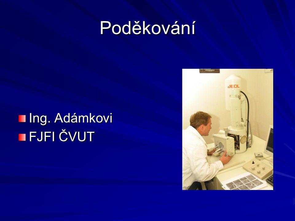Poděkování Ing. Adámkovi FJFI ČVUT