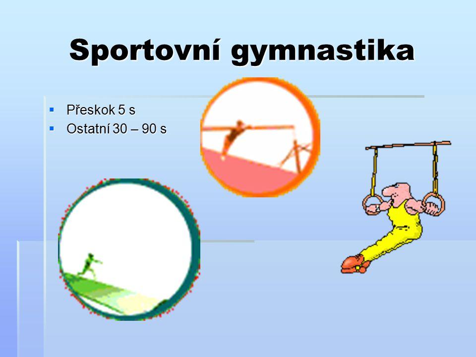 Moderní gymnastika  Jednotlivkyně 90 s  Společné skladby 150 s