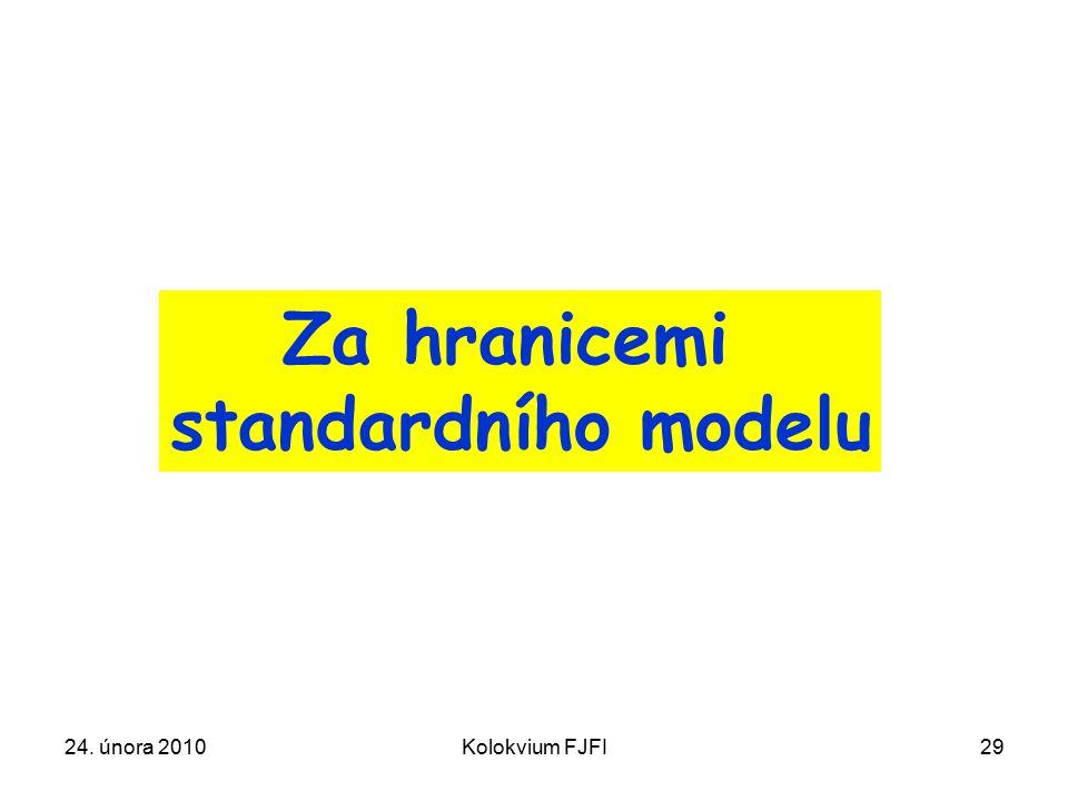 24. února 2010Kolokvium FJFI29 Za hranicemi standardního modelu