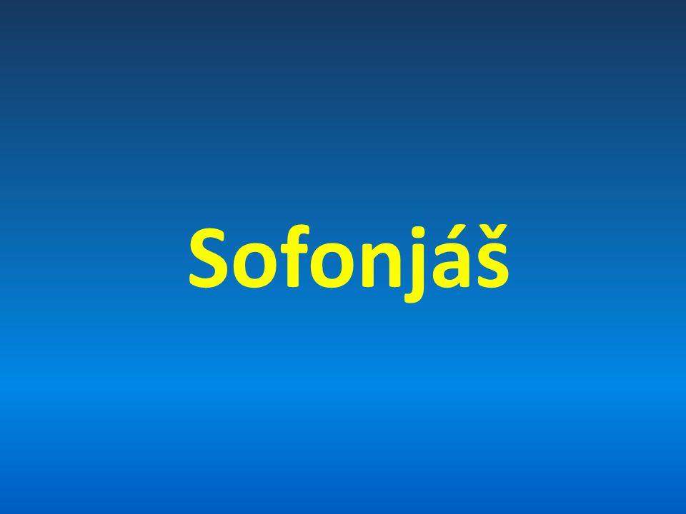 """Autor a datum vzniku Sofonjáš – """"skrytý v Hospodinu Prorokoval za vlády krále Joziáše v Období 640 -621 pŘ."""