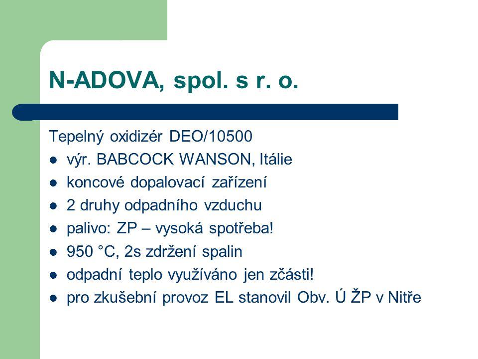 N-ADOVA, spol. s r. o. Tepelný oxidizér DEO/10500 výr.