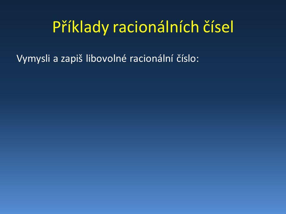 Početní operace s racionálními č.
