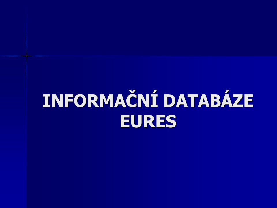 INFORMAČNÍ DATABÁZE EURES
