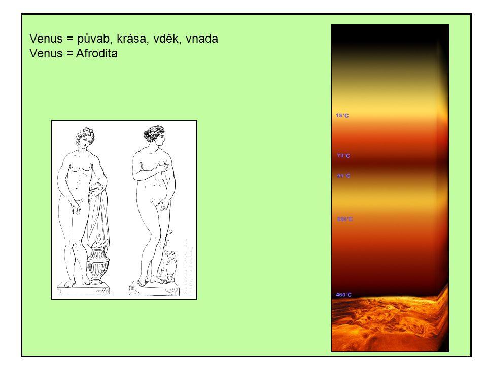 Venus = půvab, krása, vděk, vnada Venus = Afrodita