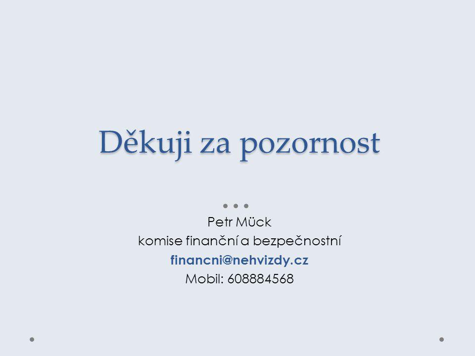Děkuji za pozornost Petr Mück komise finanční a bezpečnostní financni@nehvizdy.cz Mobil: 608884568