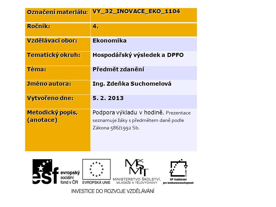 Označení materiálu : VY_32_INOVACE_EKO_1104Ročník:4.
