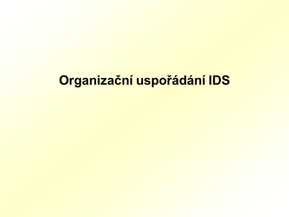 Organizační uspořádání IDS