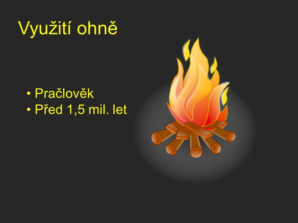 Využití ohně Pračlověk Před 1,5 mil. let