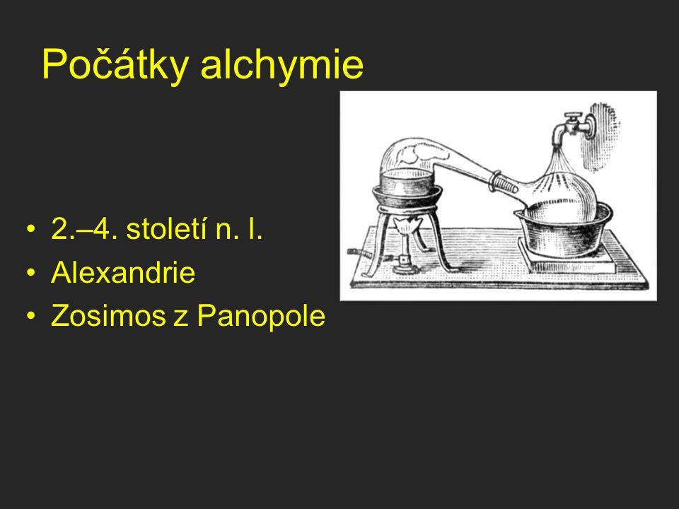 Počátky alchymie 2.–4. století n. l. Alexandrie Zosimos z Panopole