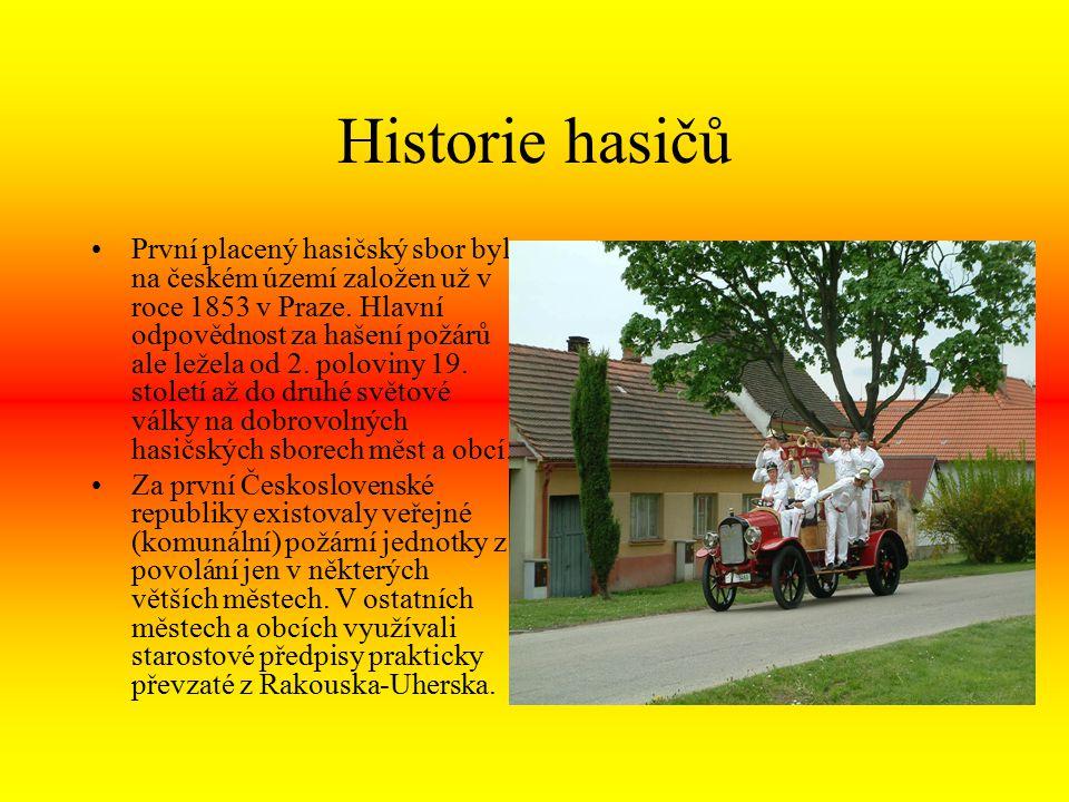 Historie Velice významnou událostí pro další období byl vznik Školy požární ochrany ministerstva vnitra ve Frýdku- Místku v roce 1967.