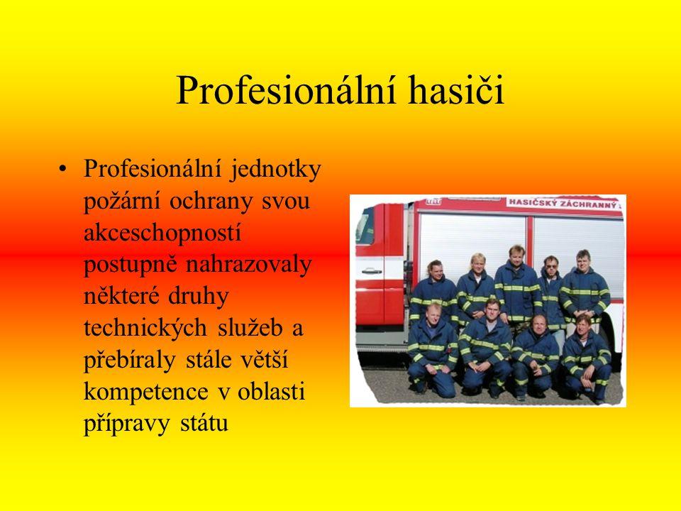Těžká práce hasičů Hasičský záchranný sbor ČR v současnosti hraje stěžejní roli v přípravách státu na mimořádné události, ať se již jedná o hrozby terorismu, průmyslových havárií nebo živelních katastrof.