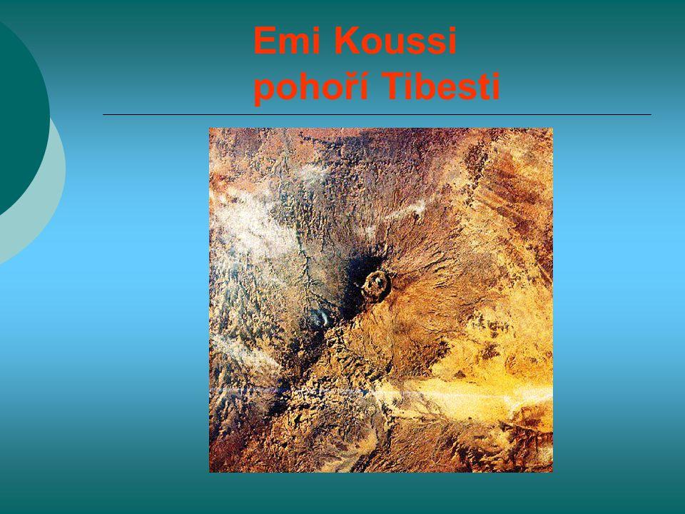 Emi Koussi pohoří Tibesti
