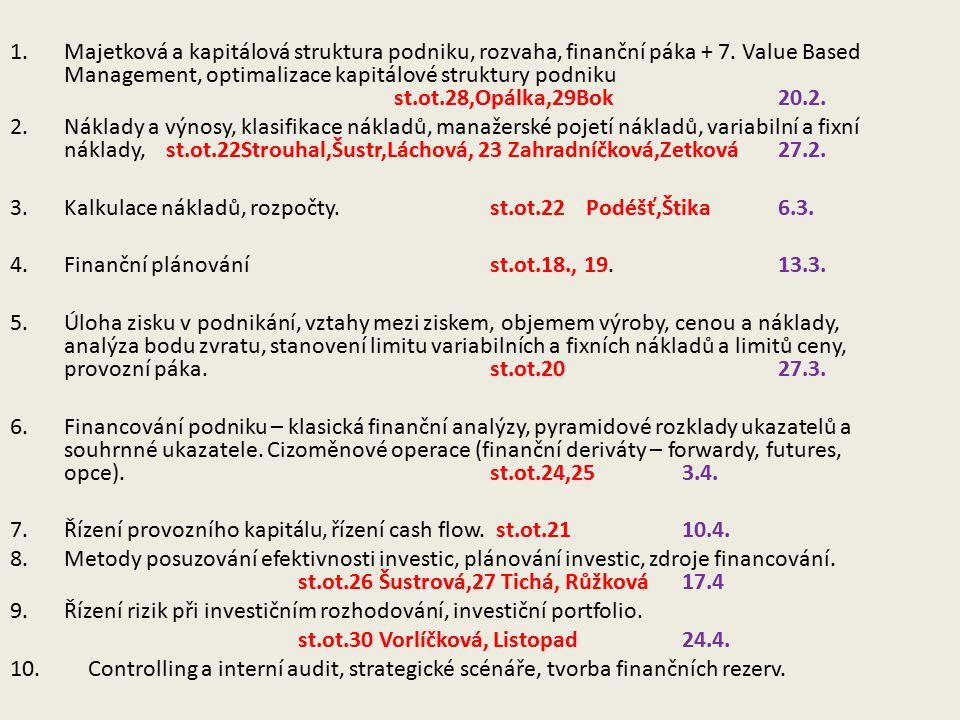 Písemný přehled jednotlivých složek nákladů a jejich souhrn na kalkulační jednici Kalkulace vlastních nákladů: Většinou shodné s náklady finančního účetnictví – Režijní náklady se stanoví: Režijní přirážkou; Režijní sazbou; Podle aktivit/procesů (OVA) KalkulaceKalkulace