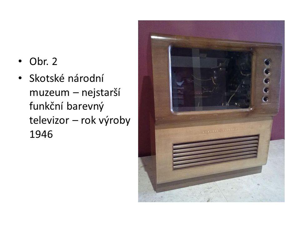 Obr. 2 Skotské národní muzeum – nejstarší funkční barevný televizor – rok výroby 1946