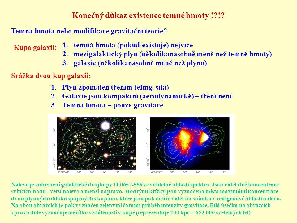 Konečný důkaz existence temné hmoty ! !.