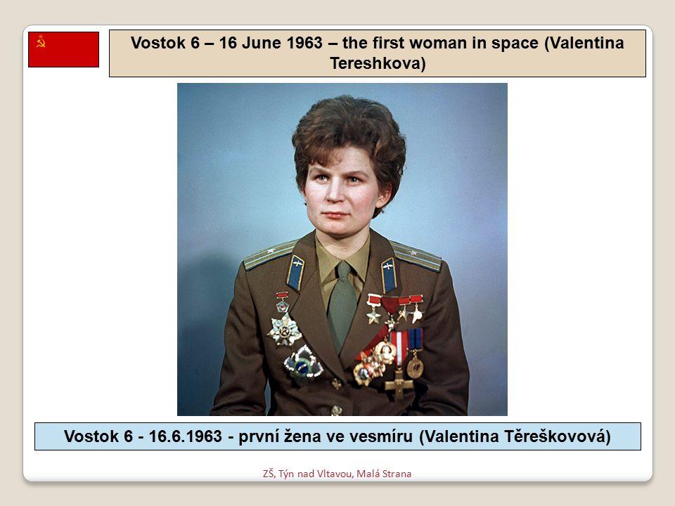 ZŠ, Týn nad Vltavou, Malá Strana Voskhod 2 – 18 March 1965 - first spacewalk (Alexey Leonov) Voschod 2 - 18.3.1965 - první výstup do volného prostoru (Alexej Leonov)