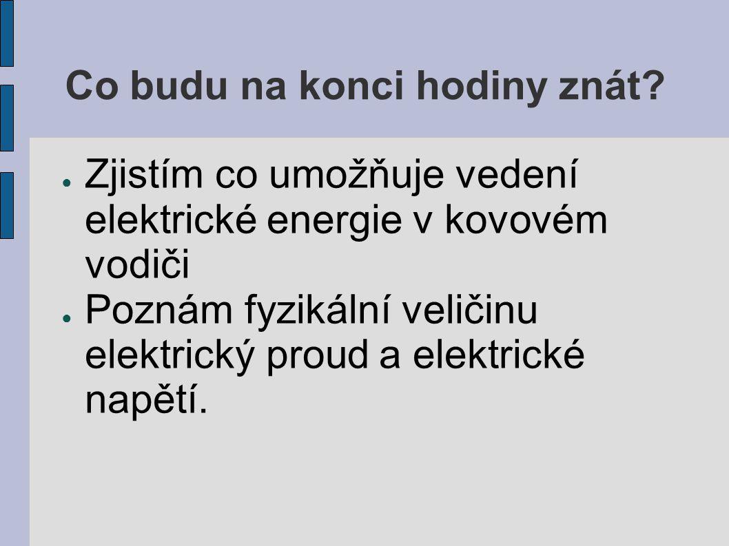 Co je to elektrický proud.● Elektrický proud je uspořádaný pohyb elektricky nabitých částic.