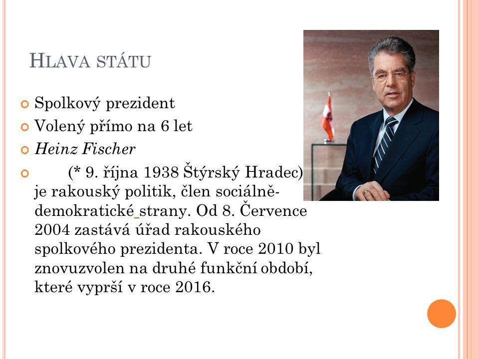 H LAVA STÁTU V případě, že jakékoli důvody zabrání vykonávat hlavě státu její povinnosti, přechází její pravomoci na trojici prezidentů dolní komory parlamentu - Národní rady.