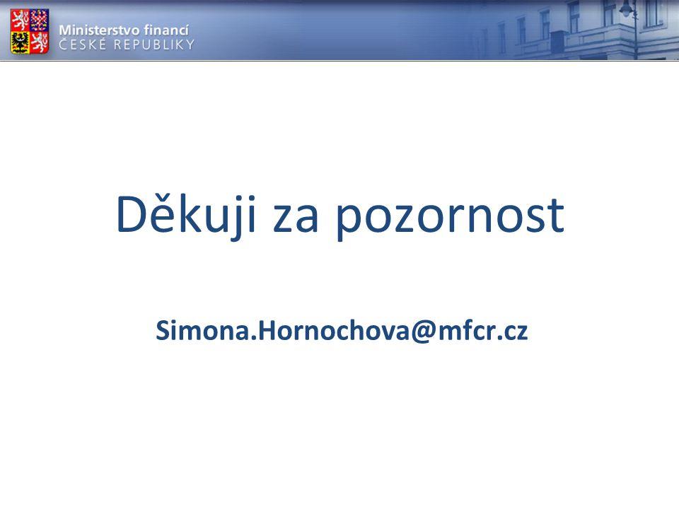 Děkuji za pozornost Simona.Hornochova@mfcr.cz