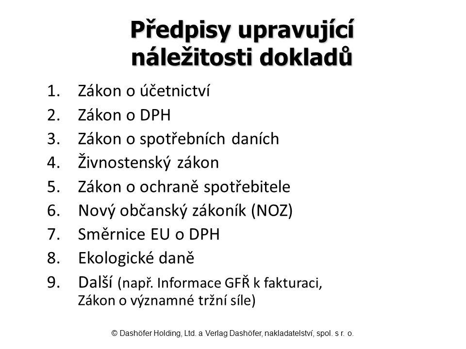 NOZ - obchodní listiny Na obchodních listinách, tj.