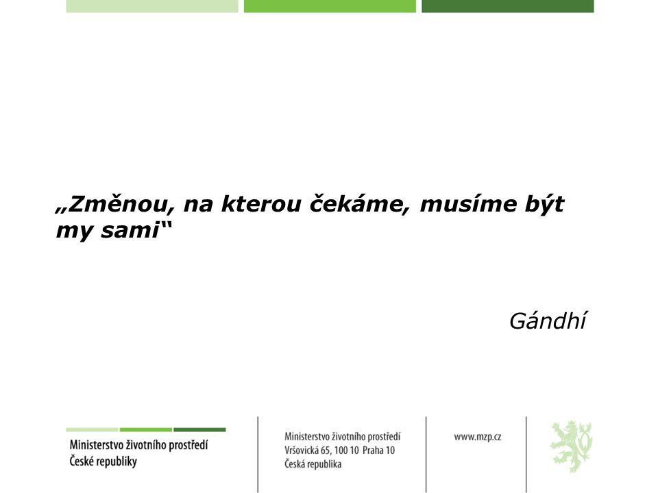 """""""Změnou, na kterou čekáme, musíme být my sami Gándhí"""