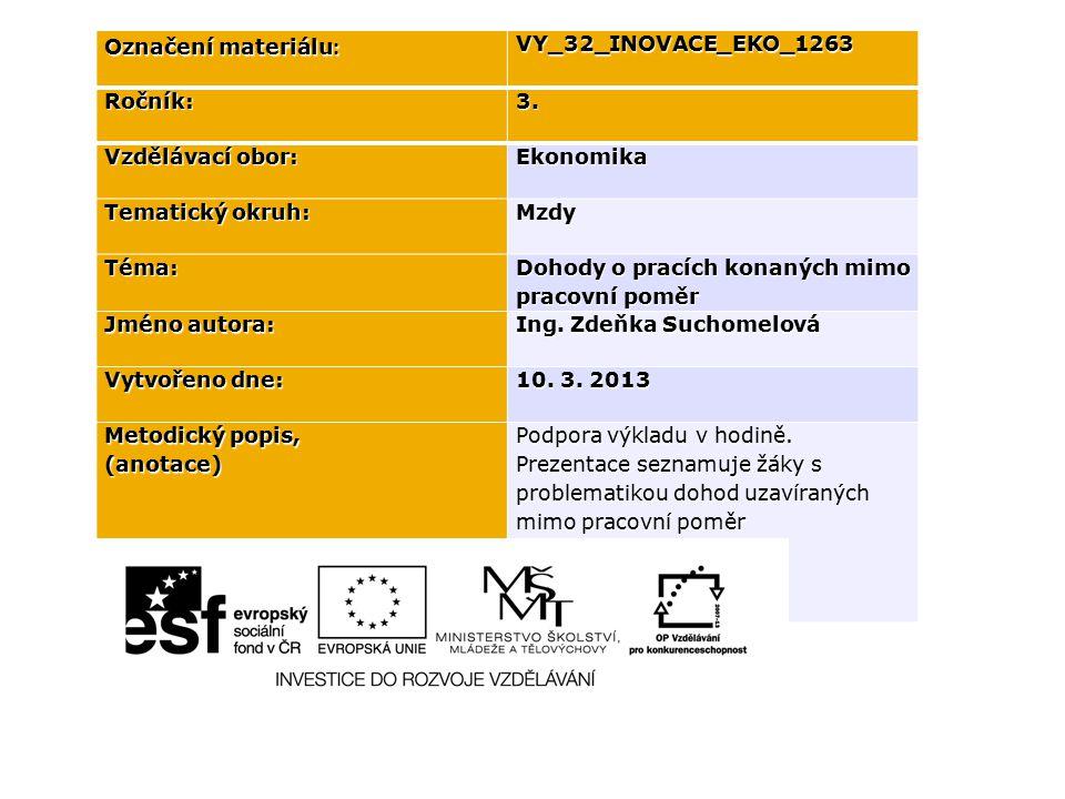 Označení materiálu : VY_32_INOVACE_EKO_1263Ročník:3.
