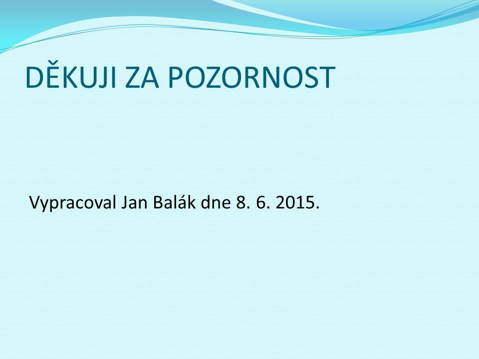 DĚKUJI ZA POZORNOST Vypracoval Jan Balák dne 8. 6. 2015.