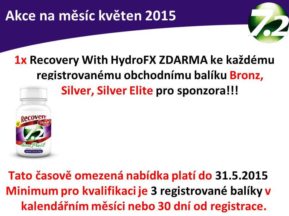1x Recovery With HydroFX ZDARMA ke každému registrovanému obchodnímu balíku Bronz, Silver, Silver Elite pro sponzora!!! Nový produkt zdarma Tato časov