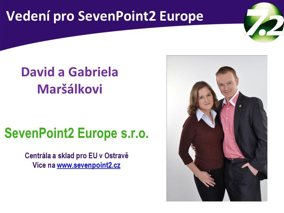 Vedení SevenPoint2 Europe David a Gabriela Maršálkovi SevenPoint2 Europe s.r.o. Centrála a sklad pro EU v Ostravě Více na www.sevenpoint2.czwww.sevenp