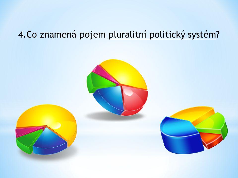 4.Co znamená pojem pluralitní politický systém?