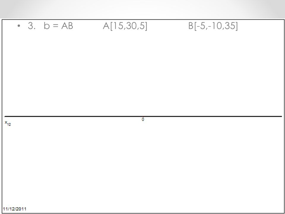 3. b = ABA[15,30,5]B[-5,-10,35]