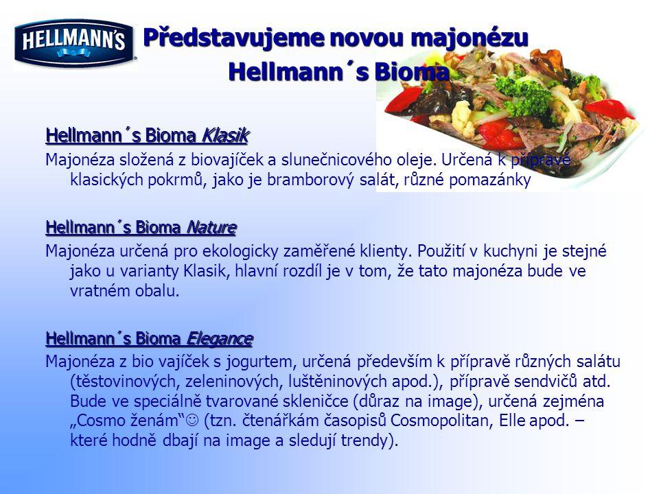 Představujeme novou majonézu Hellmann´s Bioma Hellmann´s Bioma Hellmann´s Bioma Klasik Majonéza složená z biovajíček a slunečnicového oleje. Určená k
