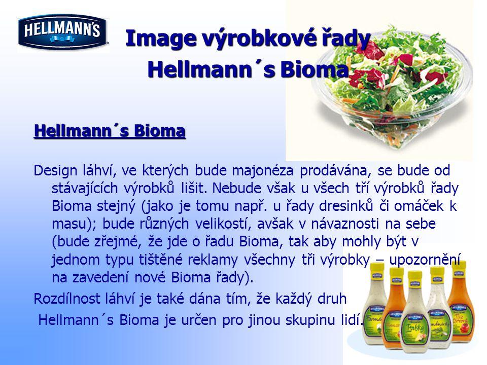 Image výrobkové řady Hellmann´s Bioma Design láhví, ve kterých bude majonéza prodávána, se bude od stávajících výrobků lišit. Nebude však u všech tří