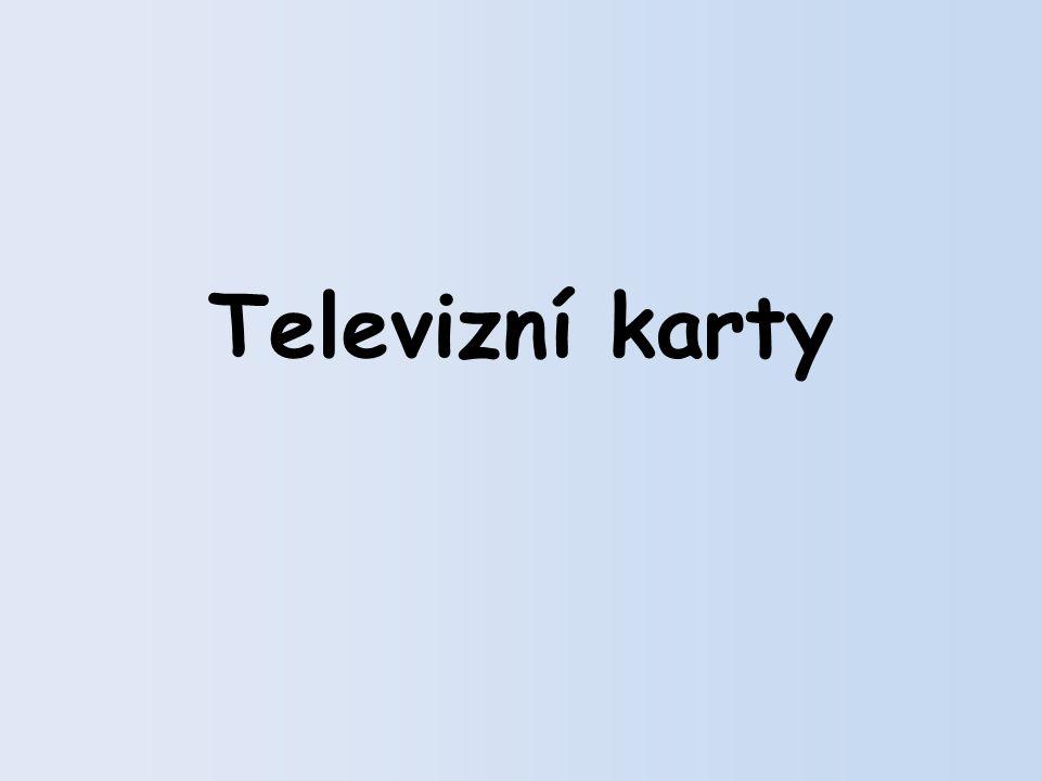 Televizní karty, též TV tunery, jsou zařízení, která umožňují sledování televizního signálu na monitoru počítače či notebooku.