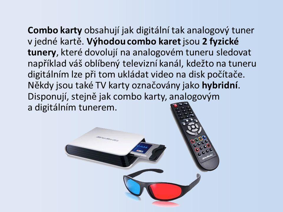Součástí balení televizních karet je přiložený software (na CD), který poslouží jako průvodce zprovoznění televizního příjmu na vašem počítači či notebooku.