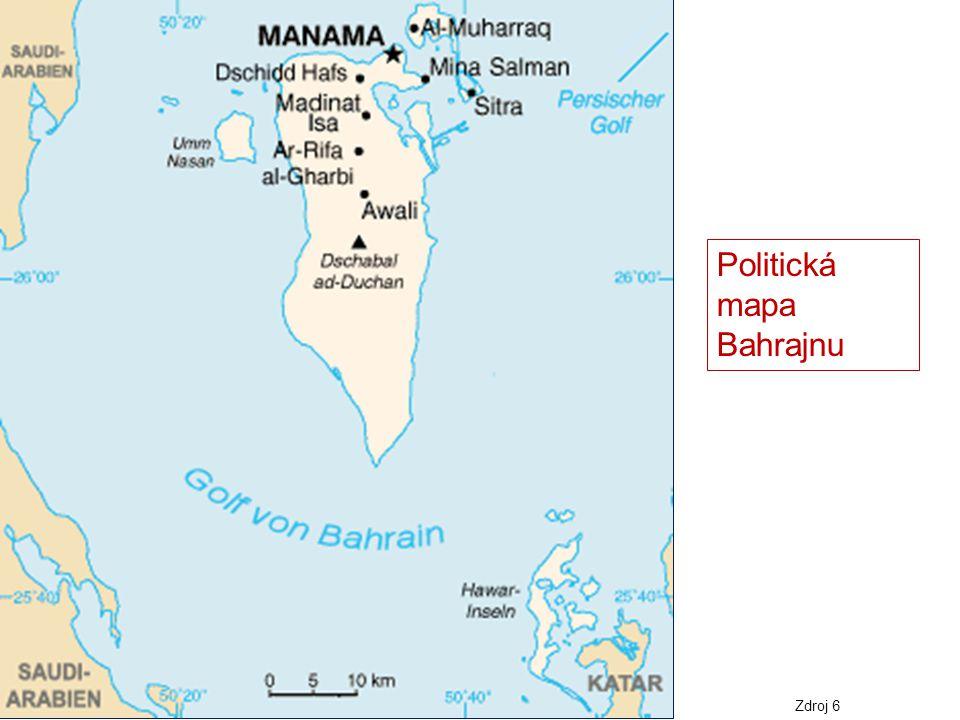 Politická mapa Bahrajnu Zdroj 6