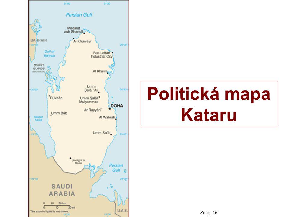 Politická mapa Kataru Zdroj 15