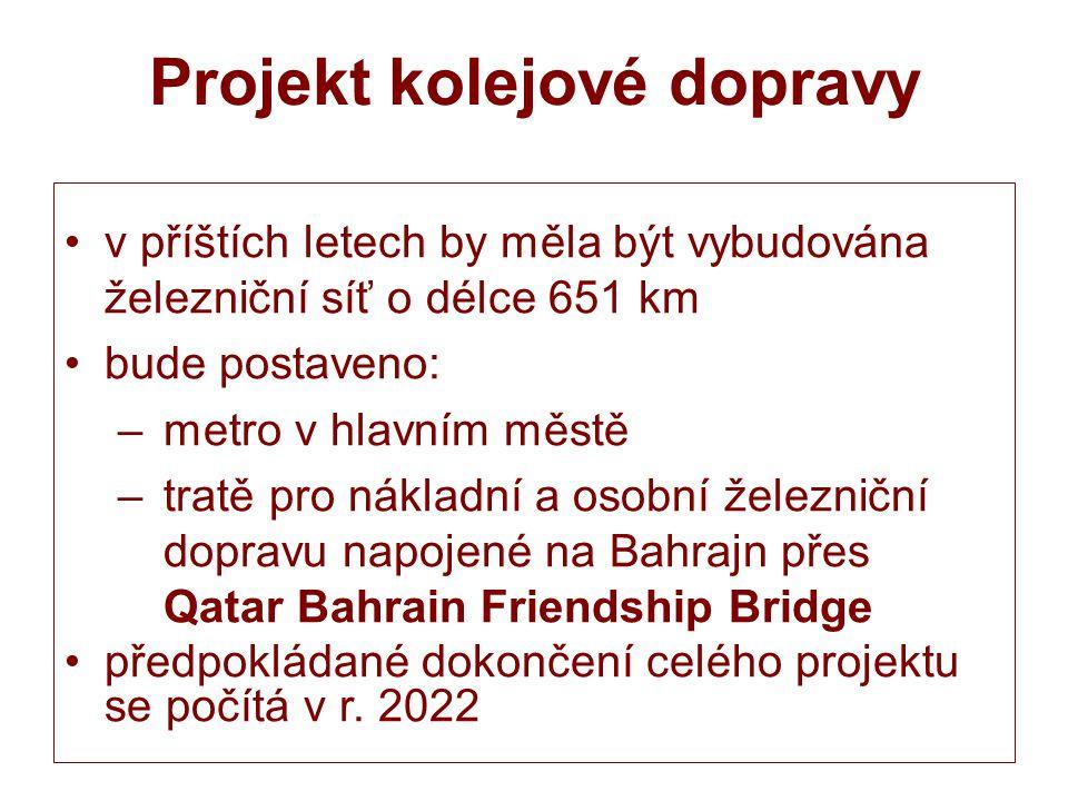 Projekt kolejové dopravy v příštích letech by měla být vybudována železniční síť o délce 651 km bude postaveno: – metro v hlavním městě – tratě pro ná
